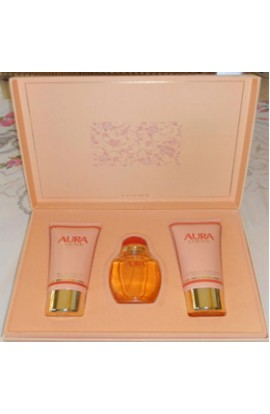 AURA  SET EDT 50 ML. + BODY 100 ML.+GEL 100 ML.(ESPEC. COLEC.-MANTONES MANILA)