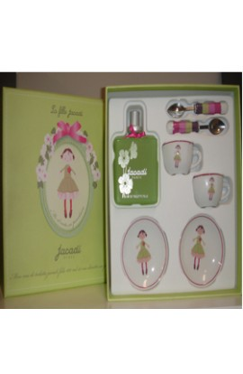 SET JACADI FILLE  EDT 100 ML.+JUEGO MINIATURA PORCELANA