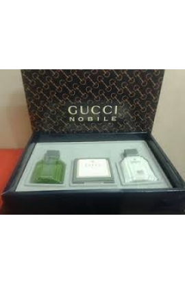 SET GUCCI NOBILE APRESS RASAGE 10ML+TOILETTE 5ML+JABON 30GR +SHAMPOO 10ML