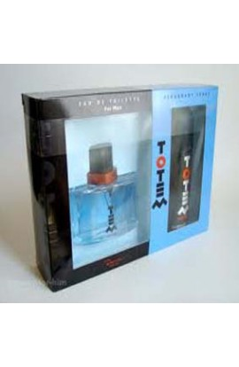 TOTEM SET (LATA)EDT 100 ML. + AFTHER  SHAVE 100 ML.